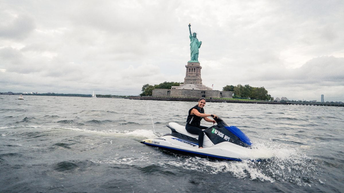 BTSNYC Experiences On Going Outdoor Activities Jet Ski Hudson River Statue of Liberty