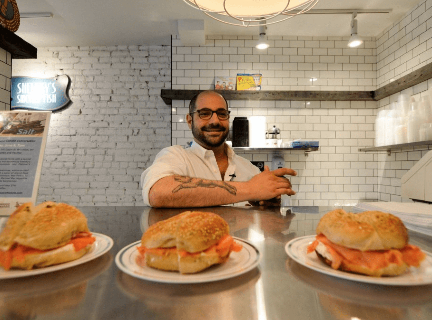 BTSNYC Experiences On Going Urban Adventure Neighborhood Eats Tour Brownstone Brooklyn Bagels