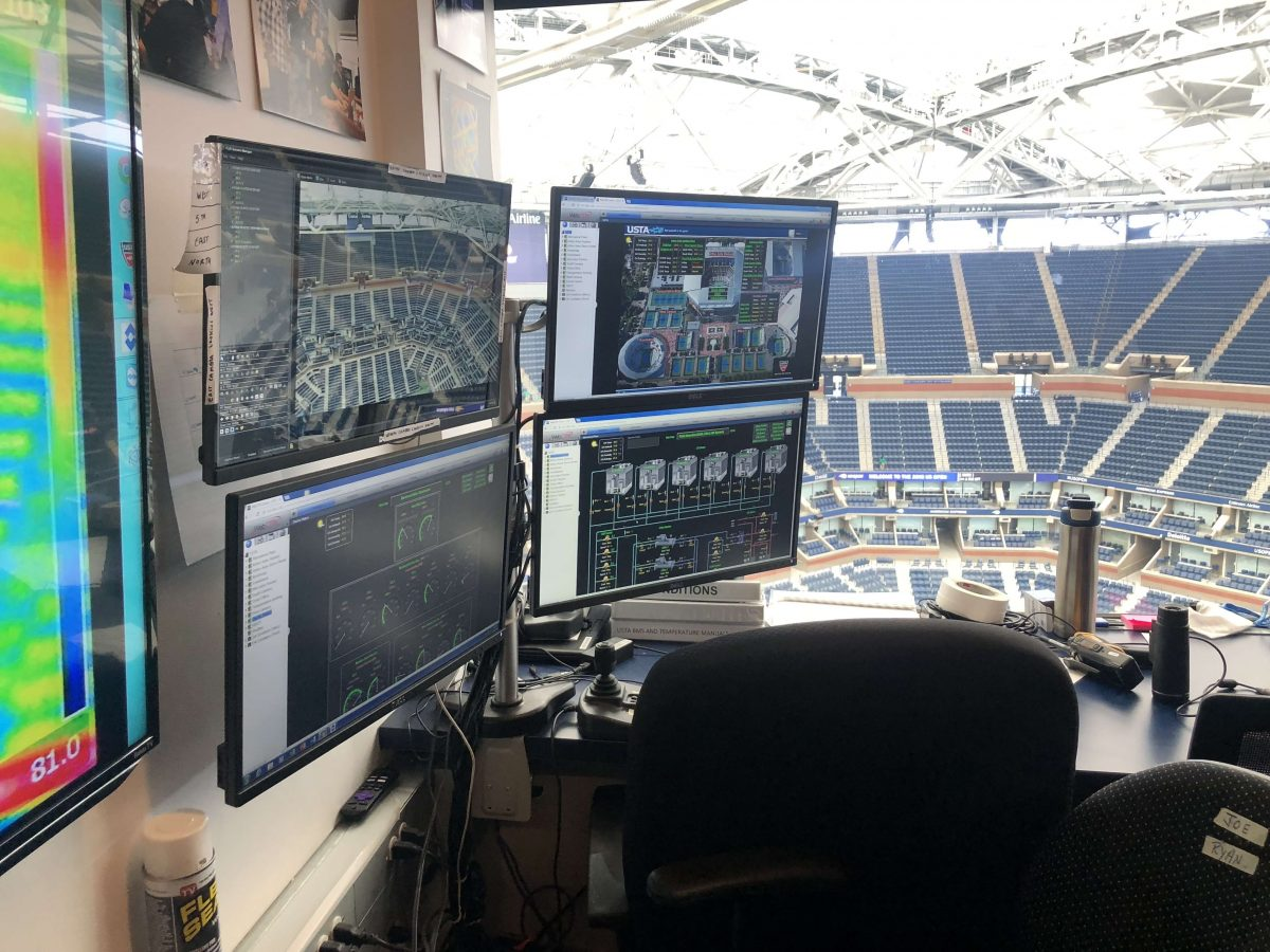 Curiosities City Secrets Siemens BTSNYC Tour Arthur Ashe Stadium Monitoring