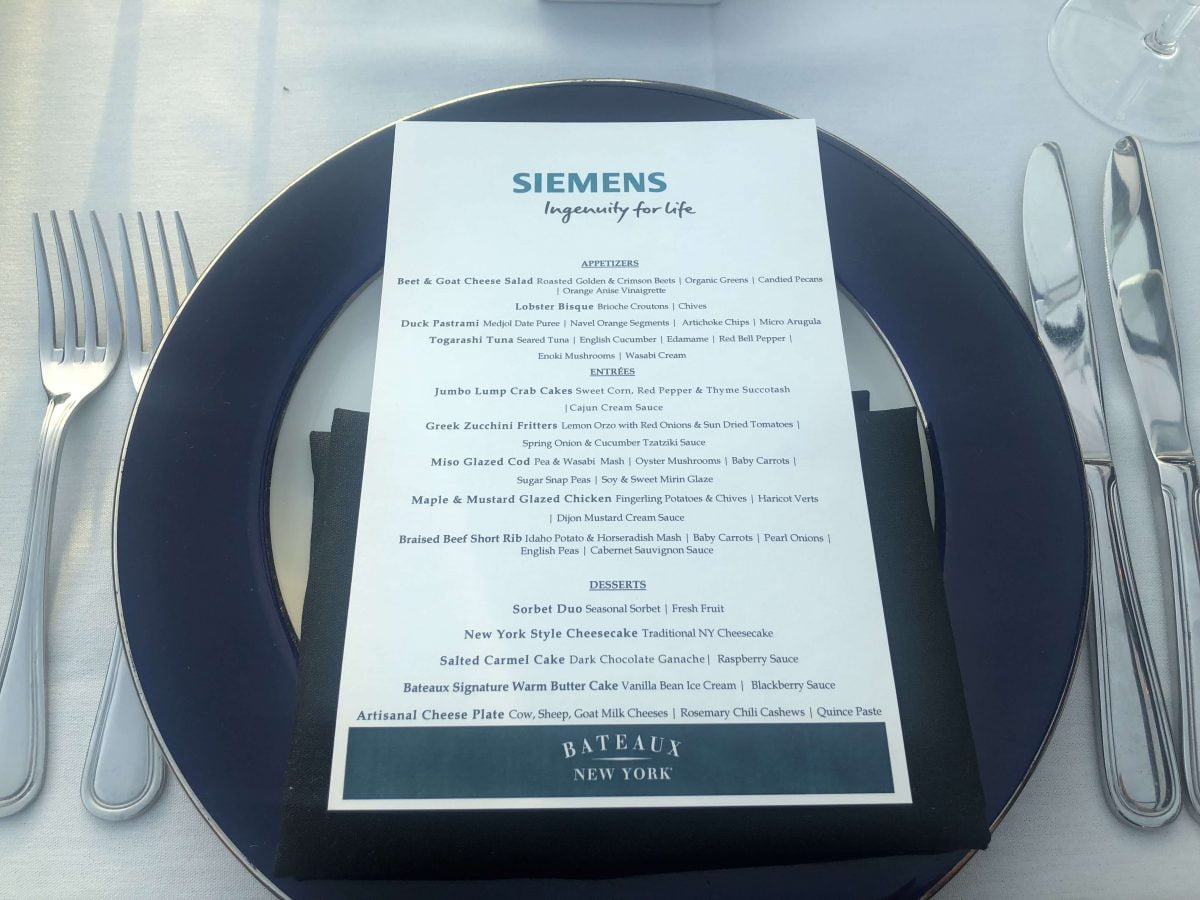 Curiosities City Secrets Siemens BTSNYC Tour Bateaux NY Dining Cruise Menu