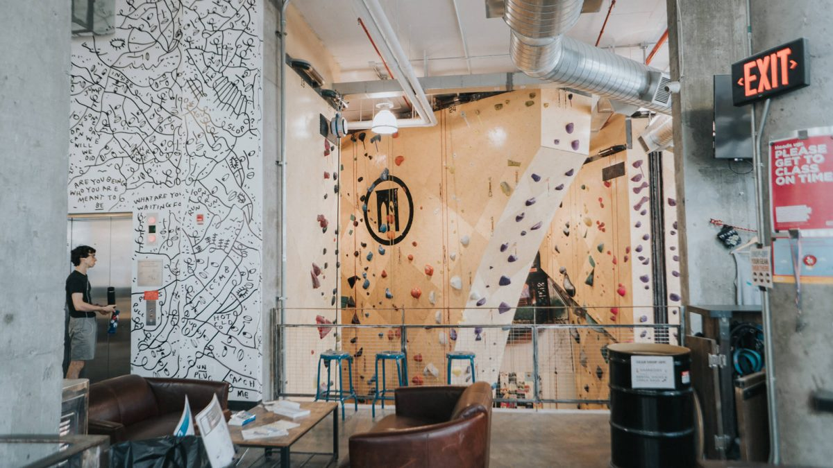 Fitness Health Brooklyn Boulders Entrance
