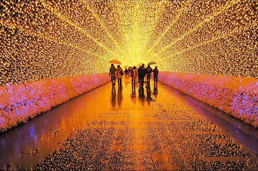 Events Up Coming NYC 1st Winter Lantern Festival Light Tunnel