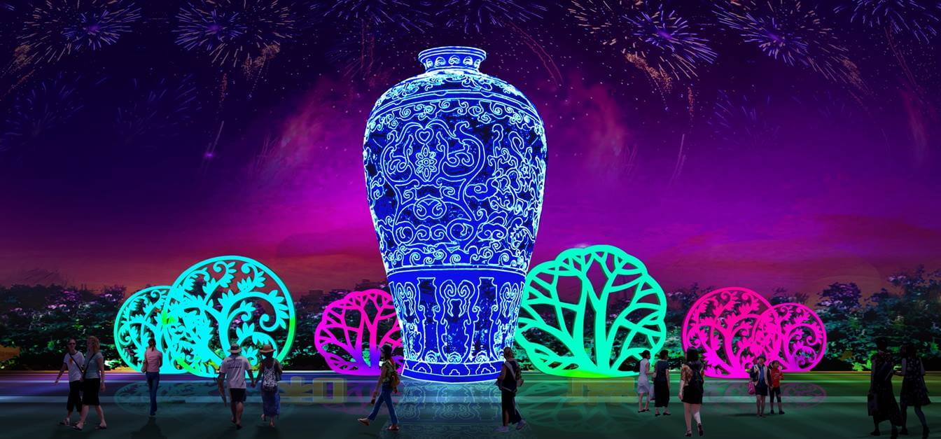 Events Up Coming NYC 1st Winter Lantern Festival Vases