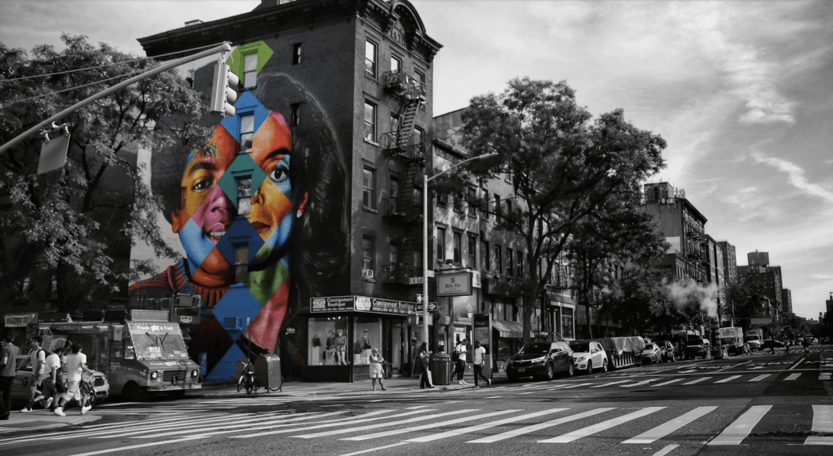Kobra Mural Grafitti New York Black or White Michael Jackson