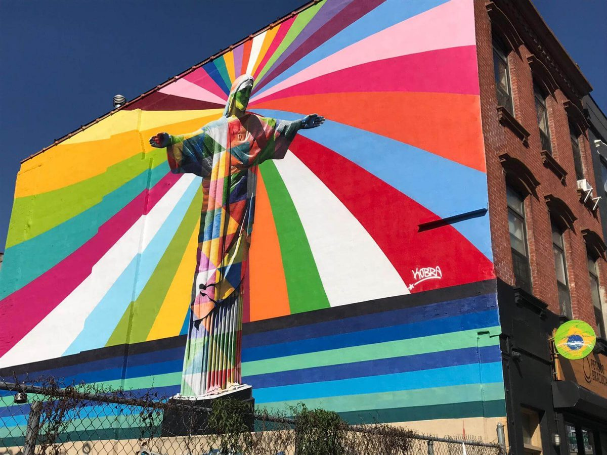 Kobra Mural Grafitti New York Christ the Redeemer
