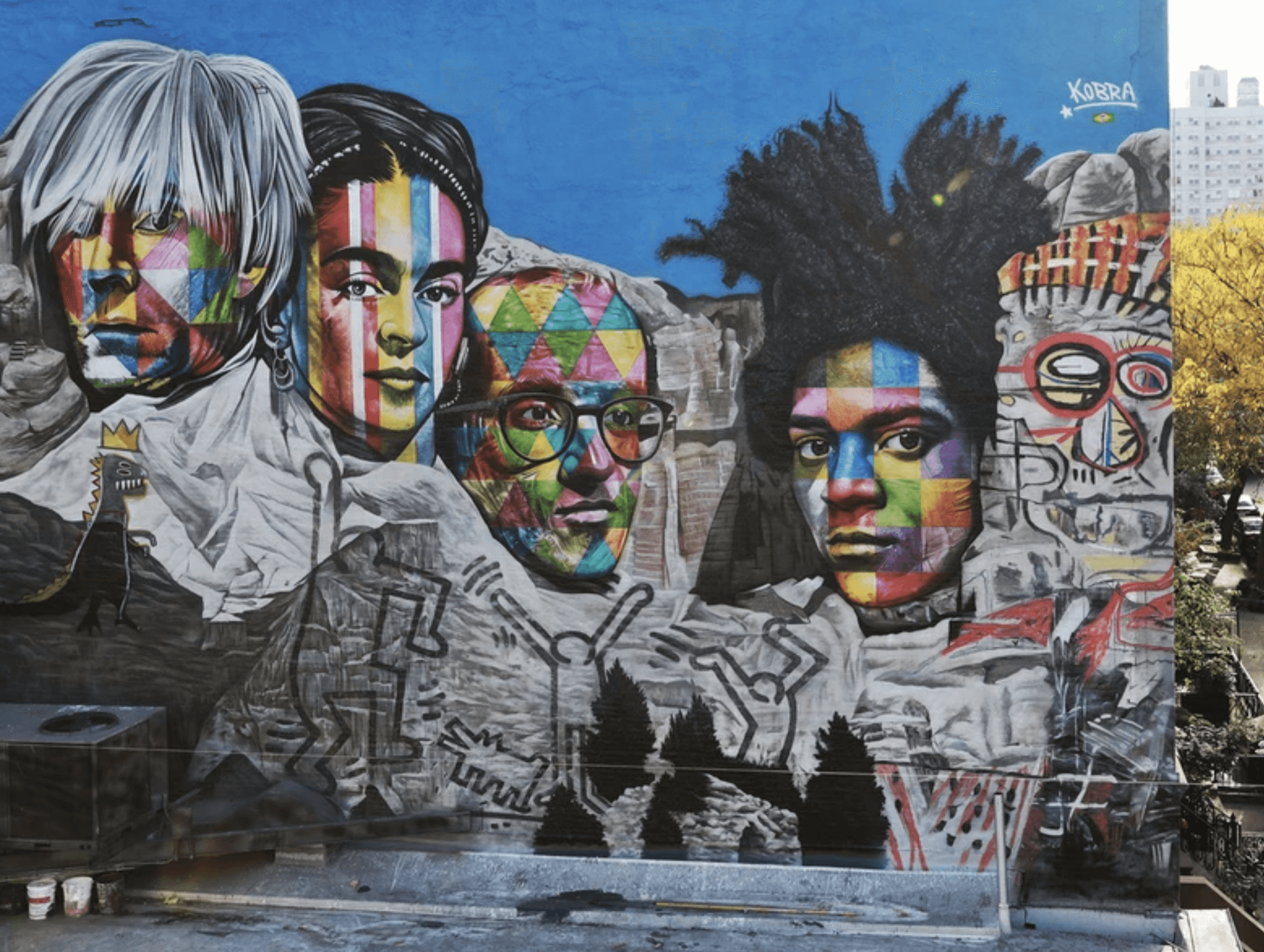 Kobra Mural Grafitti New York Mount Rushmore