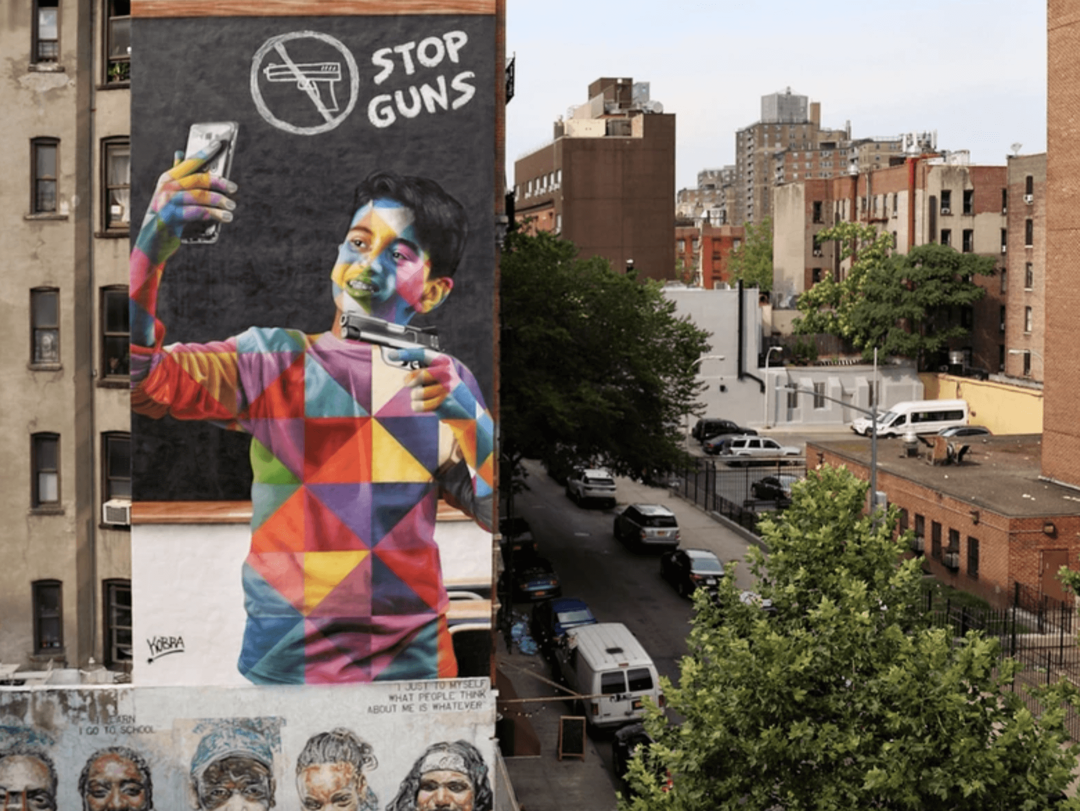 Kobra Mural Grafitti New York Stop Guns