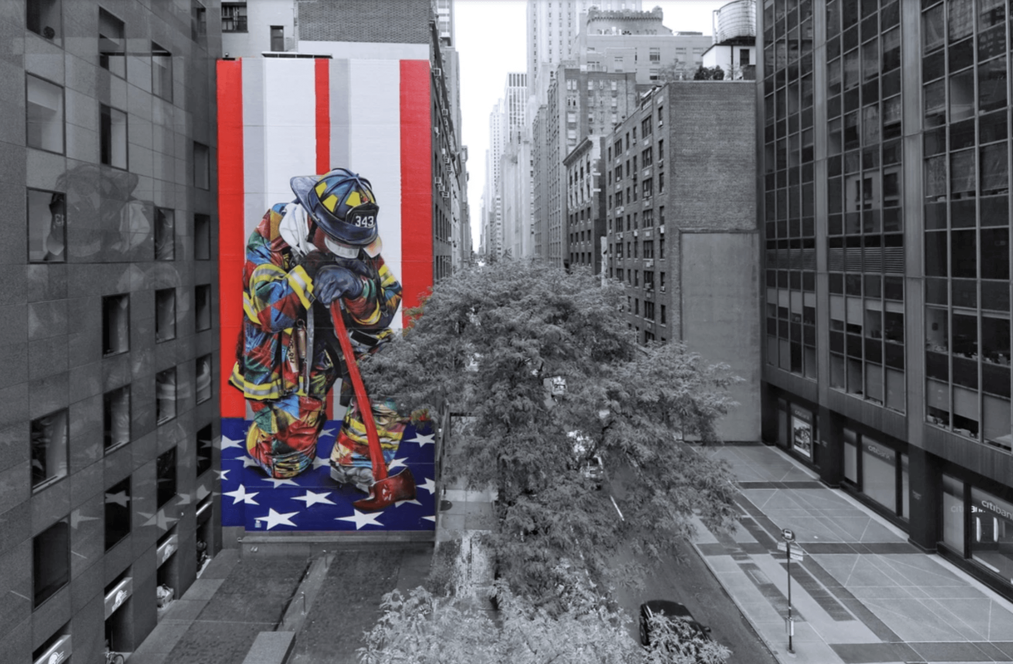 Kobra Mural Grafitti New York The Braves of 9/11