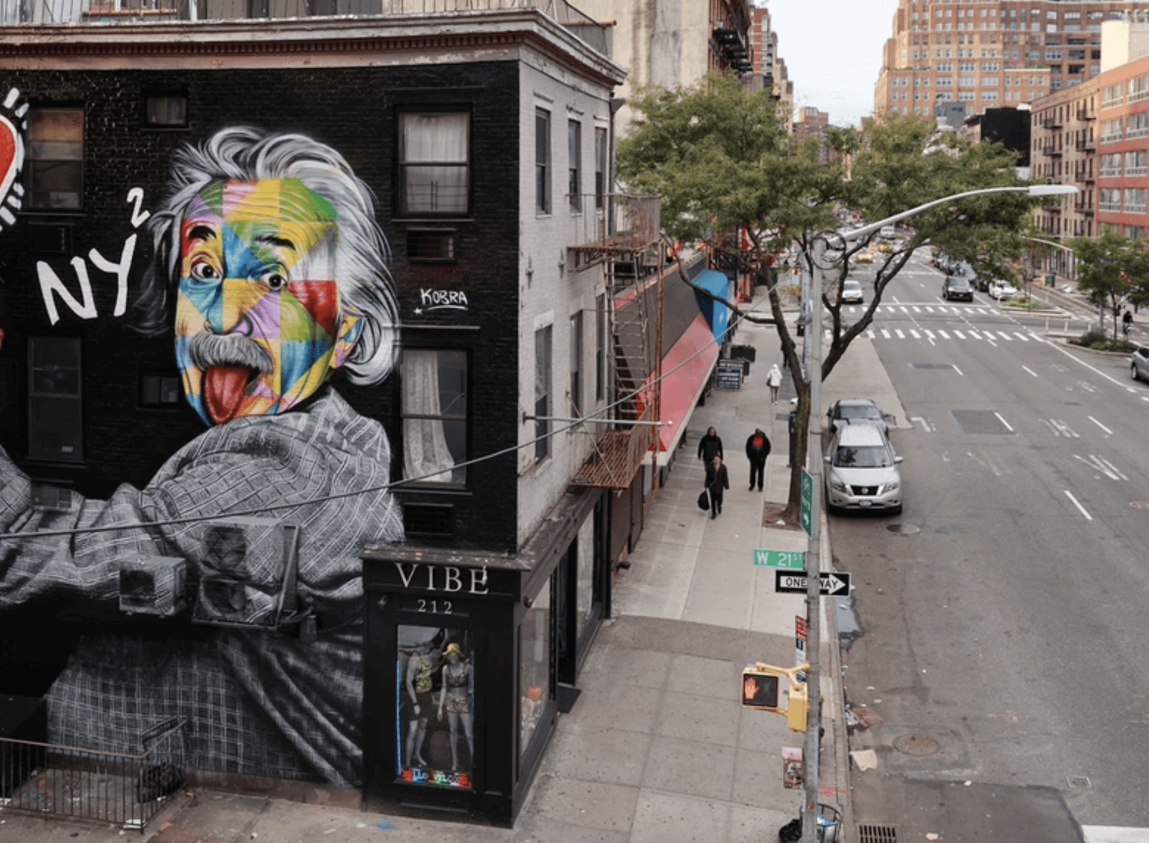 Kobra Mural Grafitti New York We Love NYC