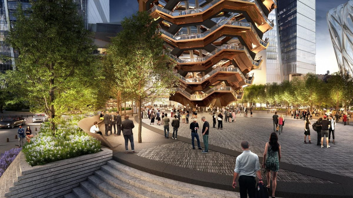 Shop Ladies and Gents Hudson Yards Special Events Plaza Courtesy of VisualHouse Nelson Byrd Woltz