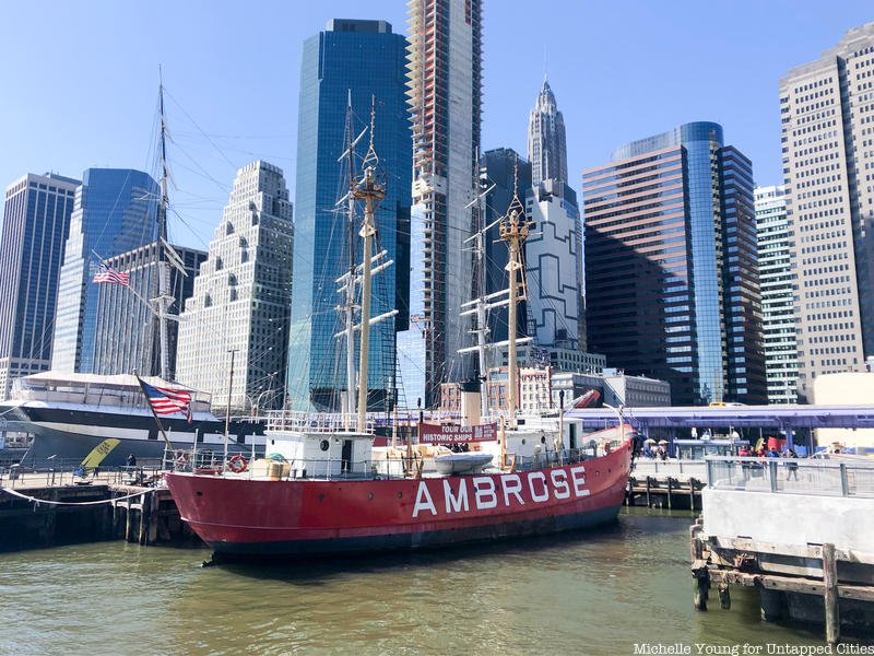 BTSNYC Experiences On Going NYC Maritime History Tour Lightship Ambrose South Street Seaport