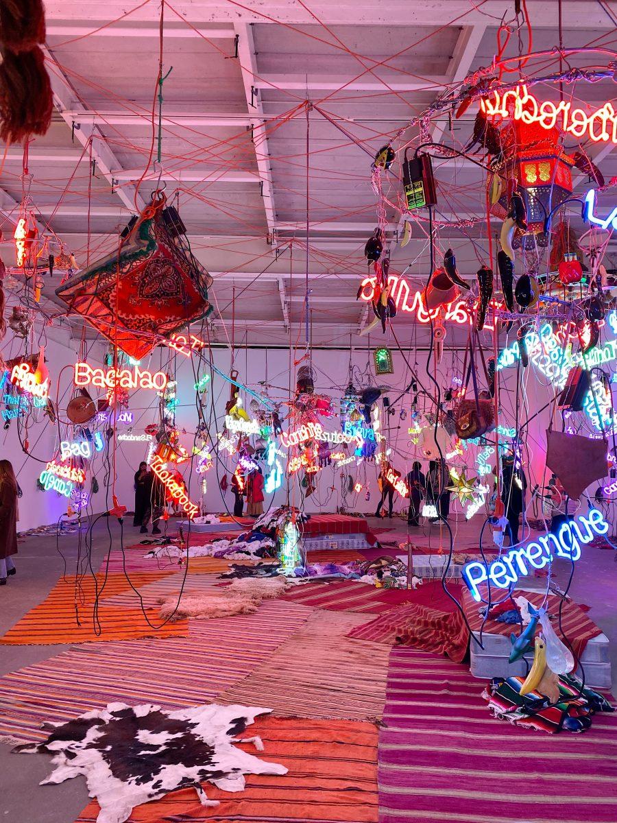 Entertainment Culture Jason Rhoades David Zwirner Installation Tijuanatanjierchandelier