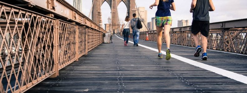 BTSNYC Experiences On Going Bridges Run Tour Brooklyn Bridge by Curtis Macnewton