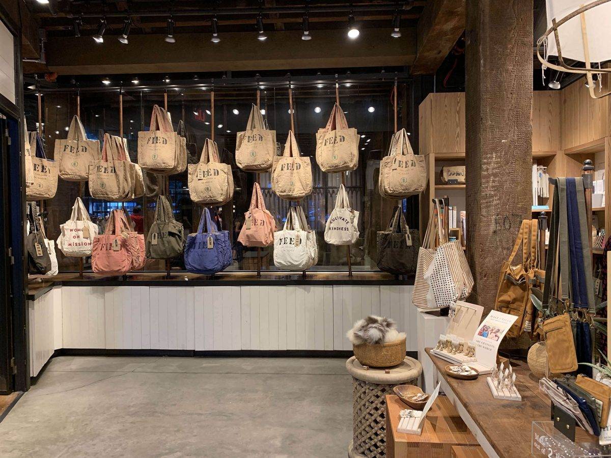 BTSNYC Social Responsibility Feed Project Empire Stores in Dumbo Bags