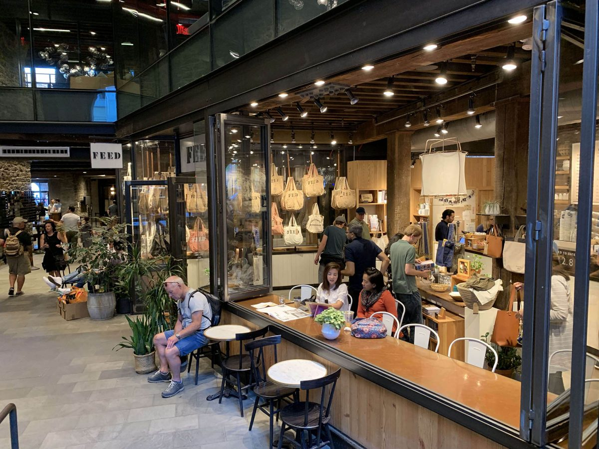BTSNYC Social Responsibility Feed Project Empire Stores in Dumbo Façade