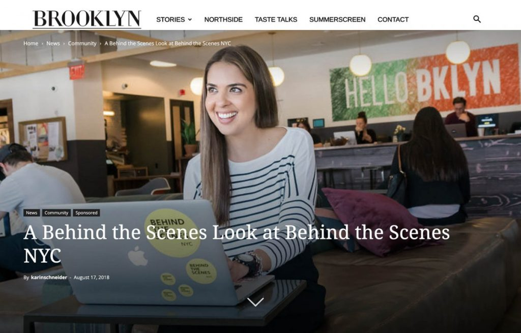About BTSNYC What The Press Brooklyn Magazine Behind The Scenes NYC Fernanda Paronetto