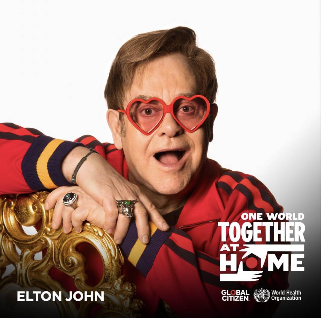 Music One World Together At Home Global Citizen Elton John