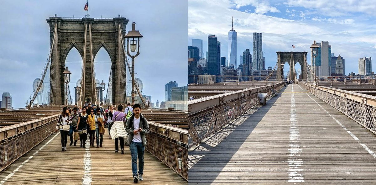Curiosities City Secrets New York City Before and After the Coronavirus Brooklyn Bridge Dalia Maidi LittleKidNYC
