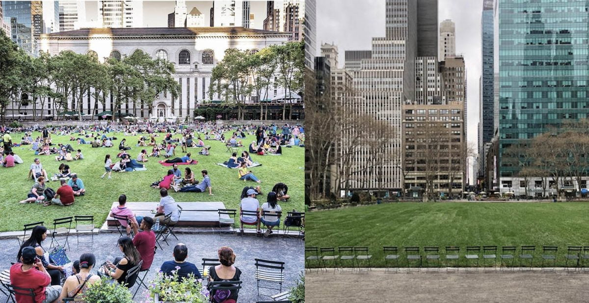 Curiosities City Secrets New York City Before and After the Coronavirus Bryant Park Noel Y Calingasan Clara Kesser