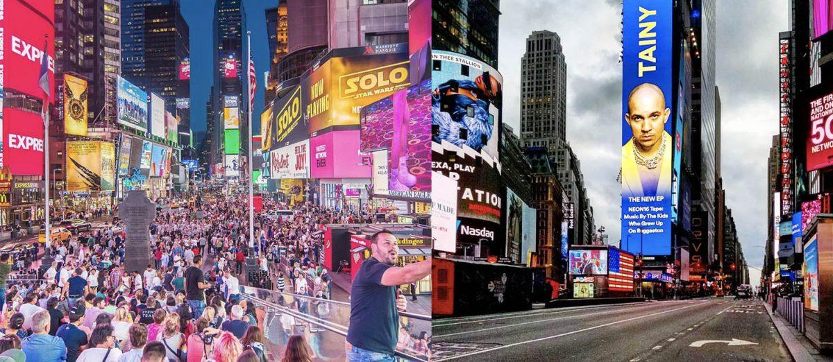 Curiosities City Secrets New York City Before and After the Coronavirus Times Square Noel Y Calingasan Dalia Maidi