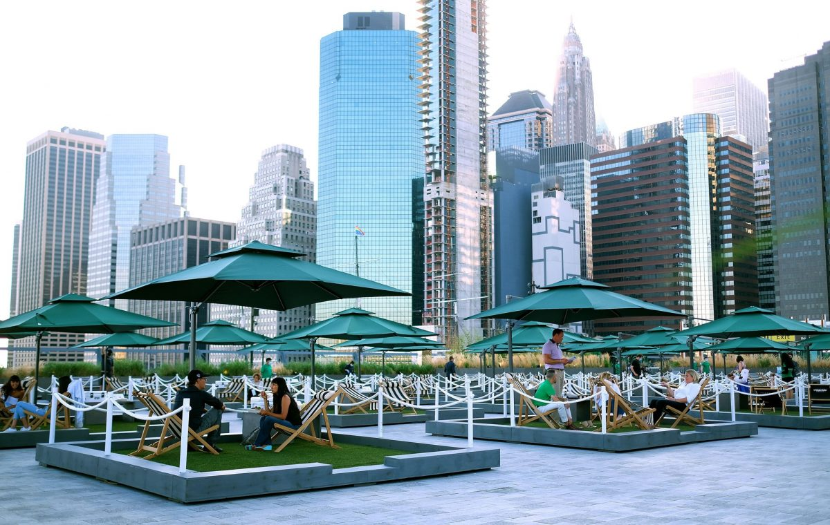 Nightlife Bars Best NYC Rooftop Bars The Greens at Pier 17